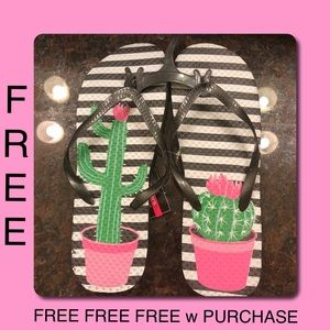 Shoes - FREE Flip Flops w Purchase Cactus Succulent NWT